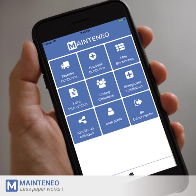 Mainteneo, l'app. pour frigoristes qui facilite les rapports d'interventions, la comptabilité des gaz et la gestion des installations frigorifiques